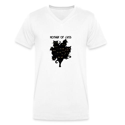 the mother cats - T-shirt ecologica da uomo con scollo a V di Stanley & Stella