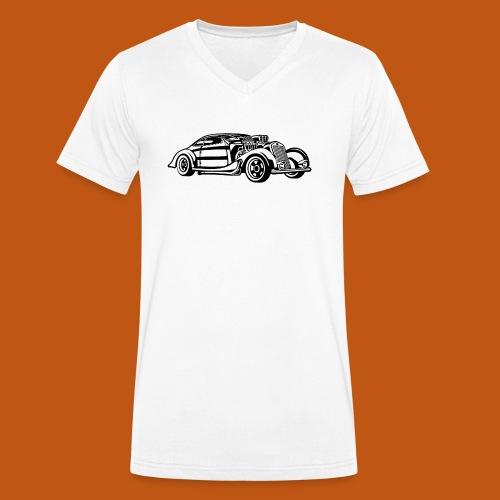 Hot Rod / Rad Rod 05_schwarz - Männer Bio-T-Shirt mit V-Ausschnitt von Stanley & Stella
