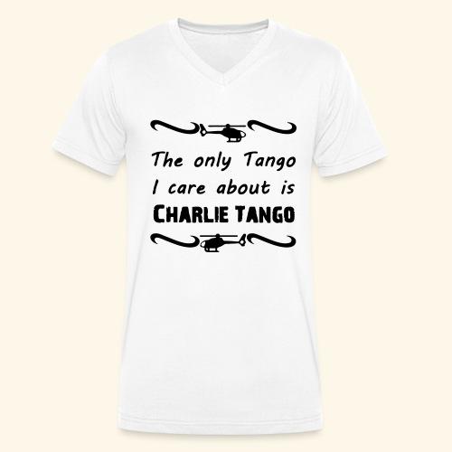 Charlie Tango - Men's Organic V-Neck T-Shirt by Stanley & Stella