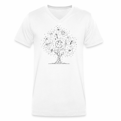 Interpretacja woodspace - Ekologiczna koszulka męska z dekoltem w serek Stanley & Stella