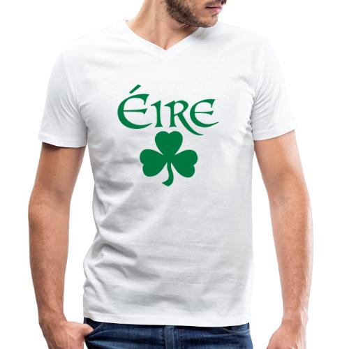 Eire Shamrock Ireland logo - Men's Organic V-Neck T-Shirt by Stanley & Stella