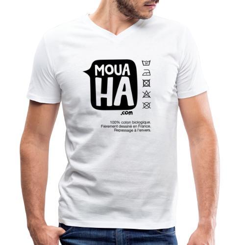 MOUAHA étiquette - T-shirt bio col V Stanley & Stella Homme