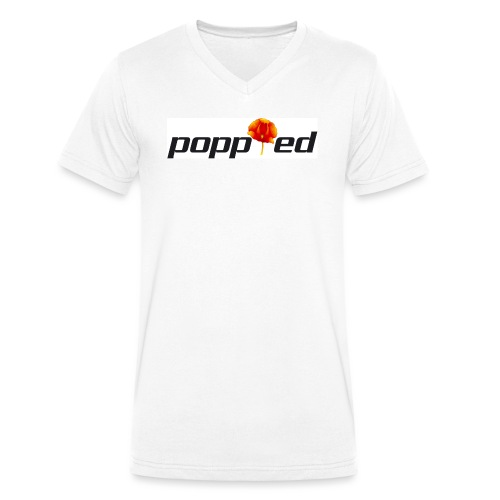 POPPIED - T-shirt ecologica da uomo con scollo a V di Stanley & Stella