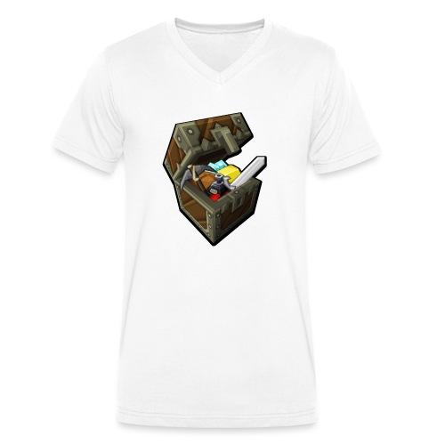 BDcraft Chest - Men's Organic V-Neck T-Shirt by Stanley & Stella