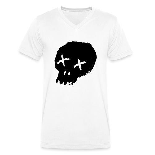 blackskulllogo png - Men's Organic V-Neck T-Shirt by Stanley & Stella