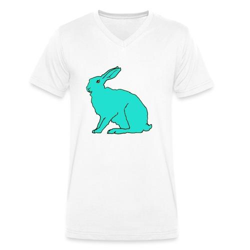 türkiser Hase - Männer Bio-T-Shirt mit V-Ausschnitt von Stanley & Stella