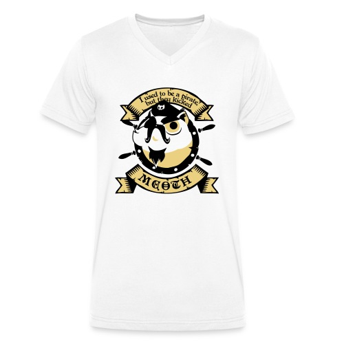 Katze Pirat Spruch - Männer Bio-T-Shirt mit V-Ausschnitt von Stanley & Stella