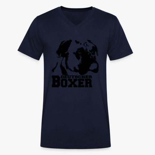 Deutscher Boxer - Männer Bio-T-Shirt mit V-Ausschnitt von Stanley & Stella