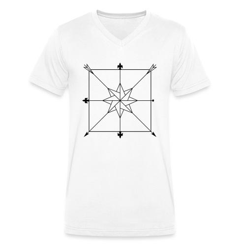 Dussack Hieblinien - Männer Bio-T-Shirt mit V-Ausschnitt von Stanley & Stella