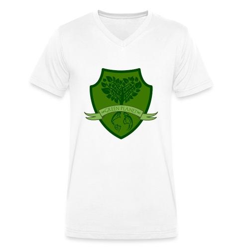 Green Planet - Camiseta ecológica hombre con cuello de pico de Stanley & Stella