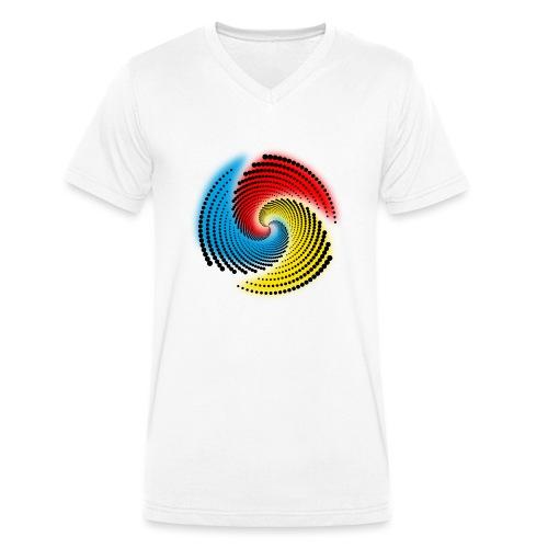 Farbspirale - Männer Bio-T-Shirt mit V-Ausschnitt von Stanley & Stella