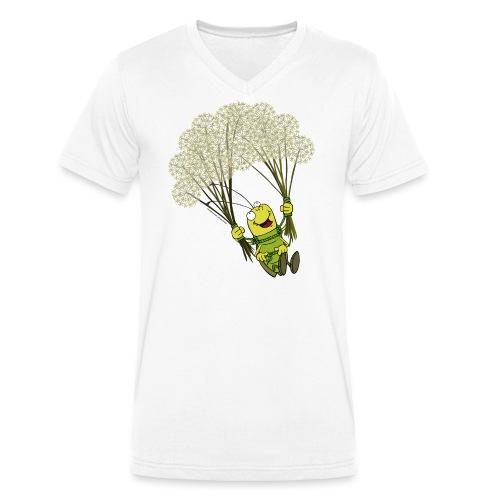 Männer T-Shirt - Georg der Flieger - Männer Bio-T-Shirt mit V-Ausschnitt von Stanley & Stella