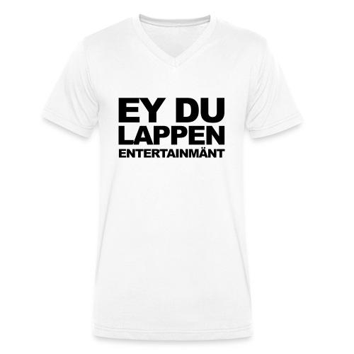 Standart EDL logo schwarz - Männer Bio-T-Shirt mit V-Ausschnitt von Stanley & Stella