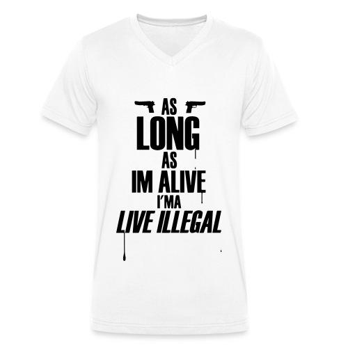Illegal - Männer Bio-T-Shirt mit V-Ausschnitt von Stanley & Stella