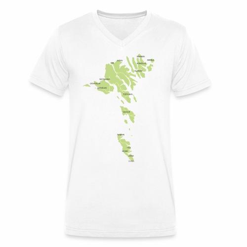 færøerne - Økologisk Stanley & Stella T-shirt med V-udskæring til herrer