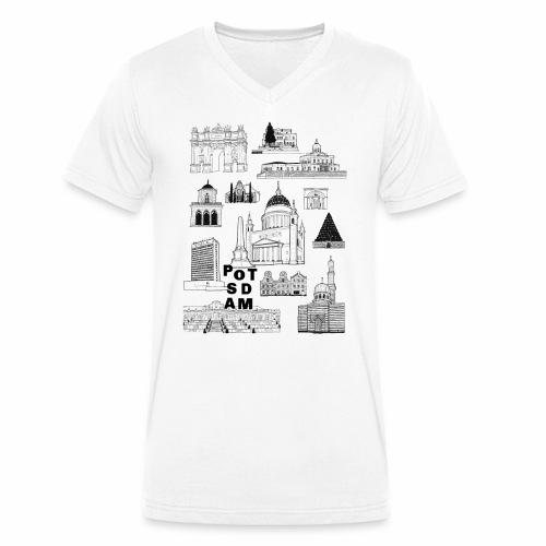 Potsdamer Fan-Shirt - Männer Bio-T-Shirt mit V-Ausschnitt von Stanley & Stella