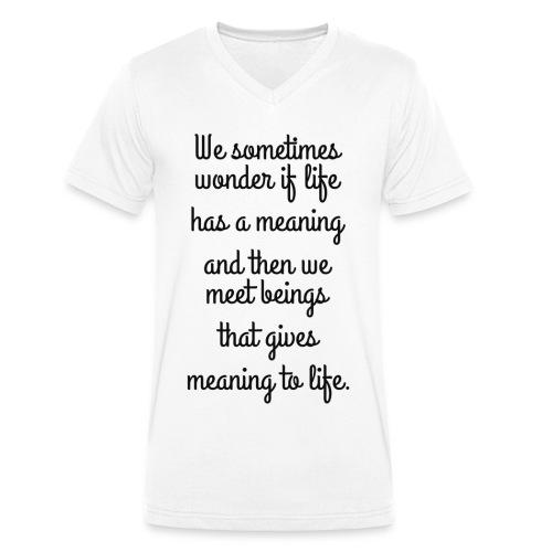 Phrase d'amour en anglais - T-shirt bio col V Stanley & Stella Homme