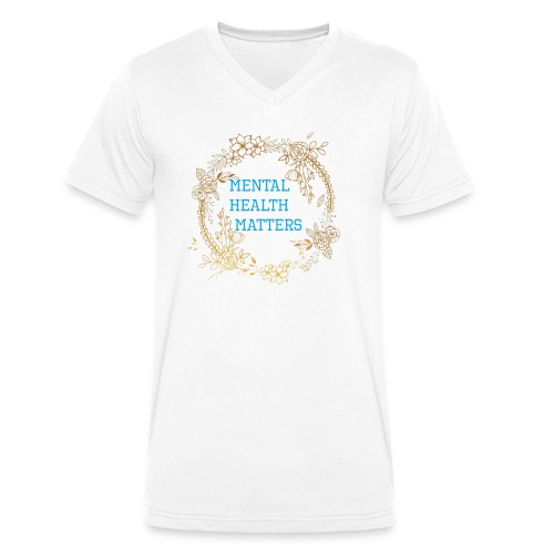 Mental Health Matters - Men's Organic V-Neck T-Shirt by Stanley & Stella