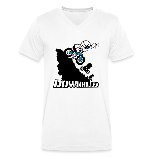 Downhiller - Männer Bio-T-Shirt mit V-Ausschnitt von Stanley & Stella