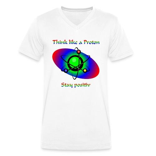stayPositiv - Männer Bio-T-Shirt mit V-Ausschnitt von Stanley & Stella