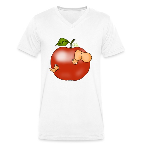Apfelwurm im Royal Tenroy - Männer Bio-T-Shirt mit V-Ausschnitt von Stanley & Stella