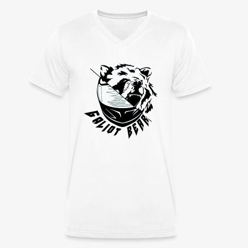 Galiot Bear Logo schwarz - Männer Bio-T-Shirt mit V-Ausschnitt von Stanley & Stella