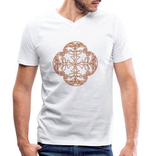 Anglian gold (Mellowed) - Men's Organic V-Neck T-Shirt by Stanley & Stella