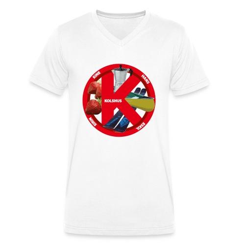 logoforeskil - Men's Organic V-Neck T-Shirt by Stanley & Stella