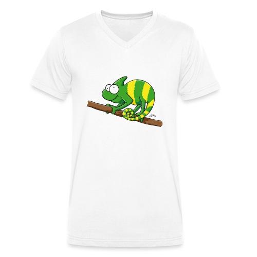 chamaeleon - Männer Bio-T-Shirt mit V-Ausschnitt von Stanley & Stella