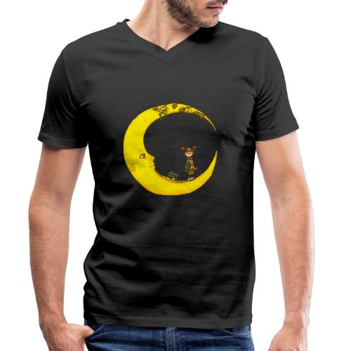 Fille sur la lune - T-shirt bio col V Stanley & Stella Homme