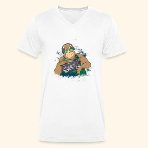Gorilla Jungle Hiphop - Camiseta ecológica hombre con cuello de pico de Stanley & Stella