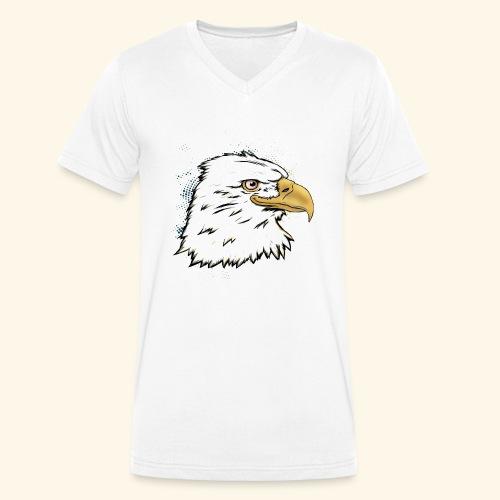 Aguila Emperador Kutuxa - Camiseta ecológica hombre con cuello de pico de Stanley & Stella