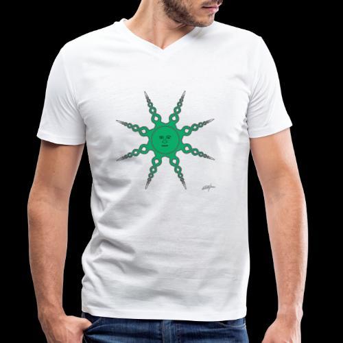 D24 Quiet Sun v4 - Camiseta ecológica hombre con cuello de pico de Stanley & Stella