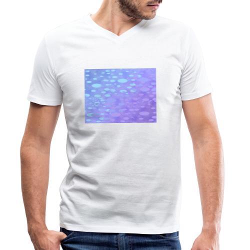wassertropfen in der regenbogenpfütze - Männer Bio-T-Shirt mit V-Ausschnitt von Stanley & Stella