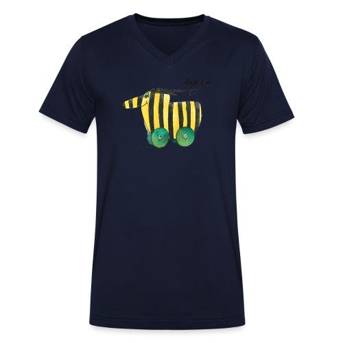Janosch Tigerente Love you - Männer Bio-T-Shirt mit V-Ausschnitt von Stanley & Stella