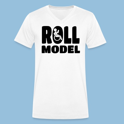 Roll model 016 - Mannen bio T-shirt met V-hals van Stanley & Stella
