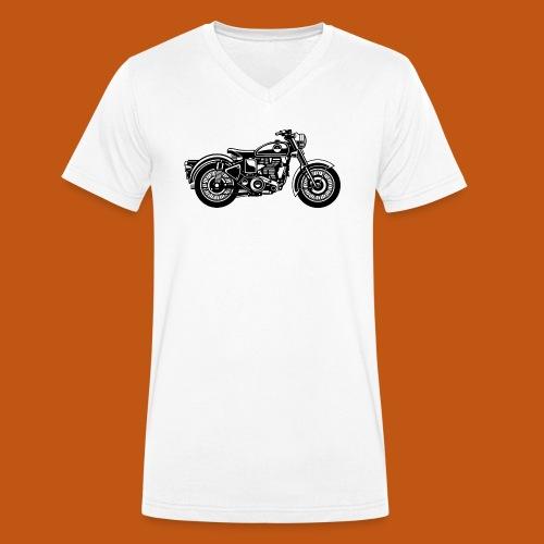 Motorrad / Classic Motorcycle 04_schwarz - Männer Bio-T-Shirt mit V-Ausschnitt von Stanley & Stella