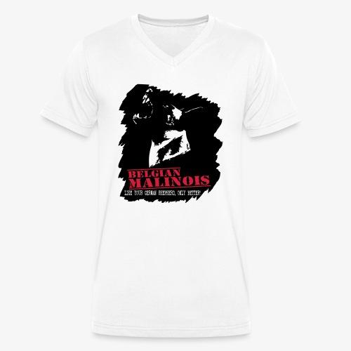 Malinois Schutzdienst - Männer Bio-T-Shirt mit V-Ausschnitt von Stanley & Stella