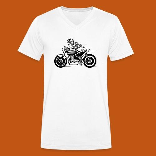 Cafe Racer Motorrad 05_schwarz - Männer Bio-T-Shirt mit V-Ausschnitt von Stanley & Stella