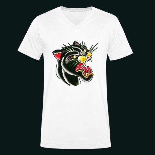 panther - Økologisk Stanley & Stella T-shirt med V-udskæring til herrer