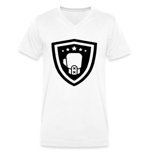 mitch gym schild - Mannen bio T-shirt met V-hals van Stanley & Stella