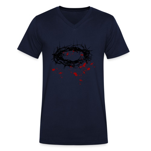 Dornenkrone - Männer Bio-T-Shirt mit V-Ausschnitt von Stanley & Stella
