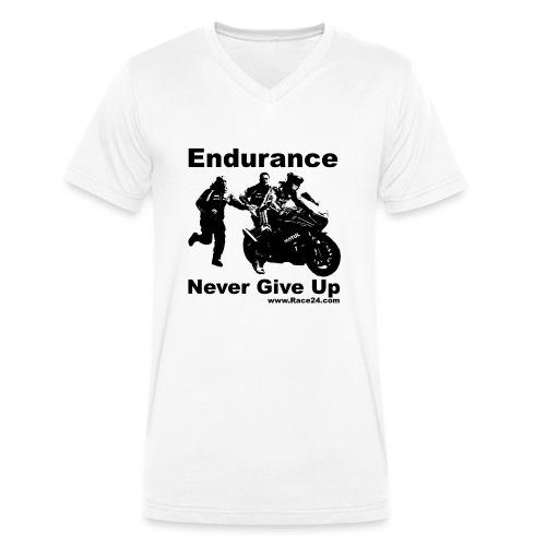 Race24 Push In Design - Men's Organic V-Neck T-Shirt by Stanley & Stella