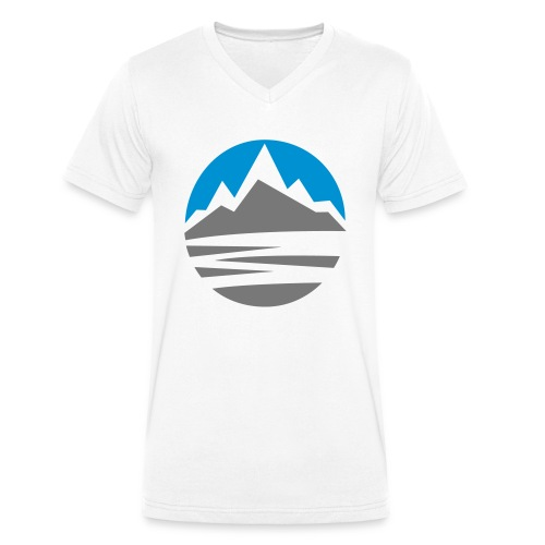 Mountain - Men's Organic V-Neck T-Shirt by Stanley & Stella