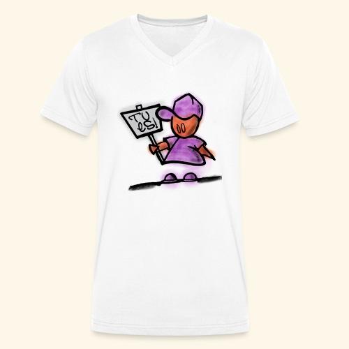 Tu es! - Männer Bio-T-Shirt mit V-Ausschnitt von Stanley & Stella