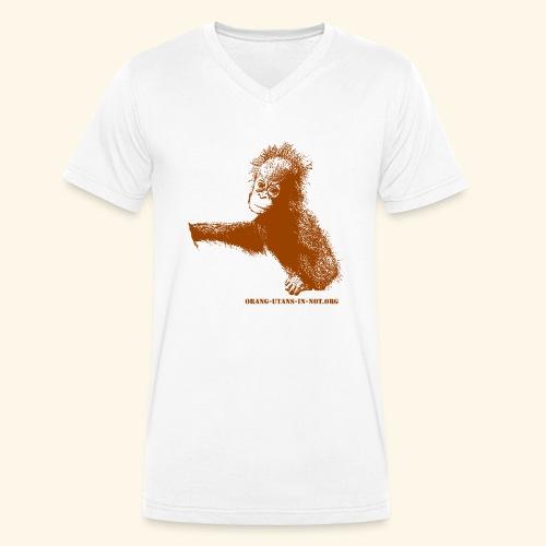 Baby-Orang-Utan braun Orang-Utans in Not - Männer Bio-T-Shirt mit V-Ausschnitt von Stanley & Stella