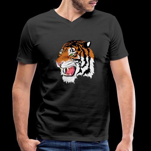 Sumatra Tiger - Männer Bio-T-Shirt mit V-Ausschnitt von Stanley & Stella