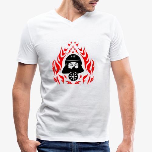Atemschutz Flamme 2 - Männer Bio-T-Shirt mit V-Ausschnitt von Stanley & Stella