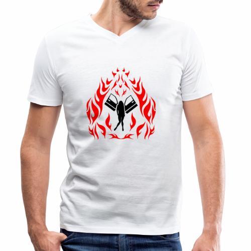 Engel / Flammen - Männer Bio-T-Shirt mit V-Ausschnitt von Stanley & Stella