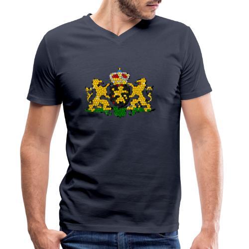 800px-Noord-Brabant_wapen - Mannen bio T-shirt met V-hals van Stanley & Stella